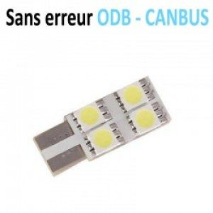 led-t10-w5w-4smd-face-anti-courant-résiduel